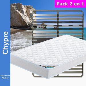ENSEMBLE LITERIE Chypre - Pack Matelas + AltoZone 140x200