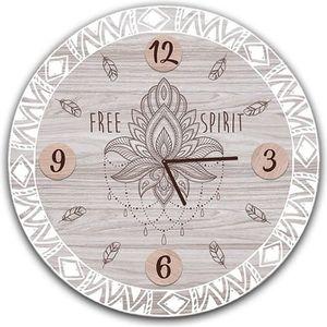 HORLOGE - PENDULE Horloge Murale 'Boho' gris (Free Spirit) - 60 cm [