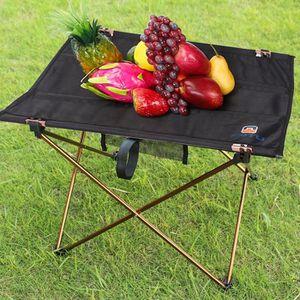 TABLE DE CAMPING table de camping pliable portable en alliage d'alu