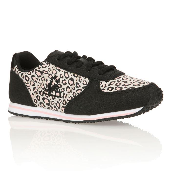 4c43f6f5ffe3 LE COQ SPORTIF Baskets Bolivar Leopard Fille Noir / Rose - Achat ...