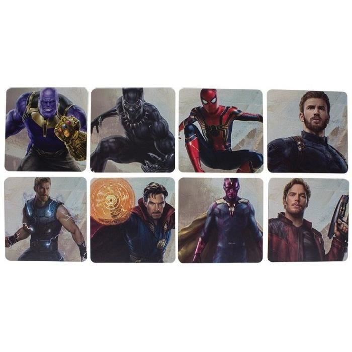 8 dessous de verre Marvel - Avengers Infinity War: Personnages