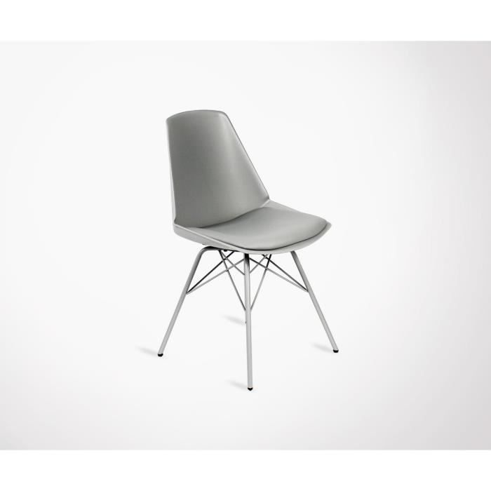CHAISE Chaise Pieds Mtal Assise Rembourre ANJI
