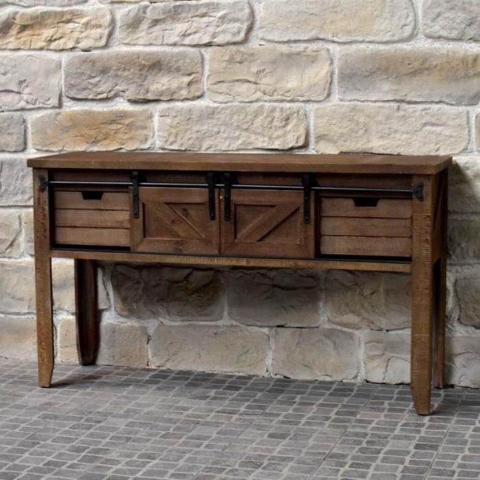 console bois et fer achat vente console bois et fer pas cher cdiscount. Black Bedroom Furniture Sets. Home Design Ideas