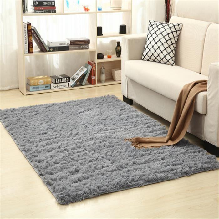 tapis carpette gris tapis du sol salon carpet moquette 100*160cm