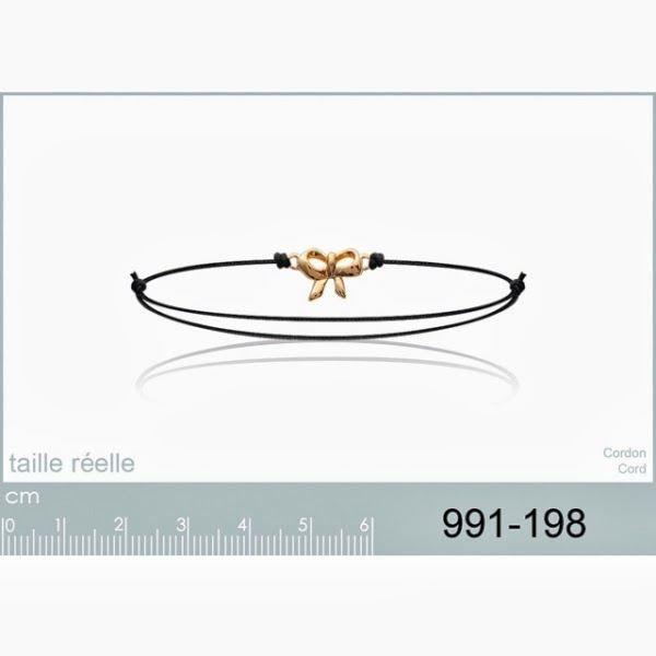 Bracelet Cordon Coton Ciré Noir …