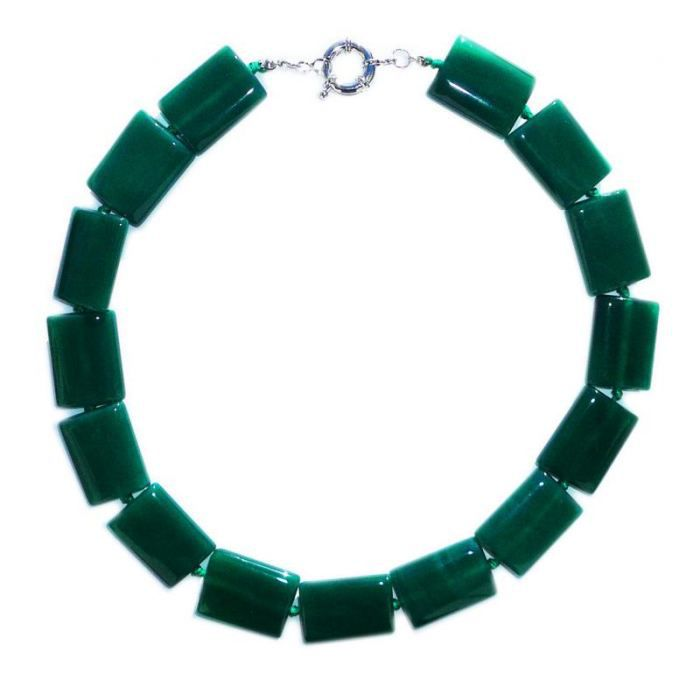 Collier de Jade en rectangle