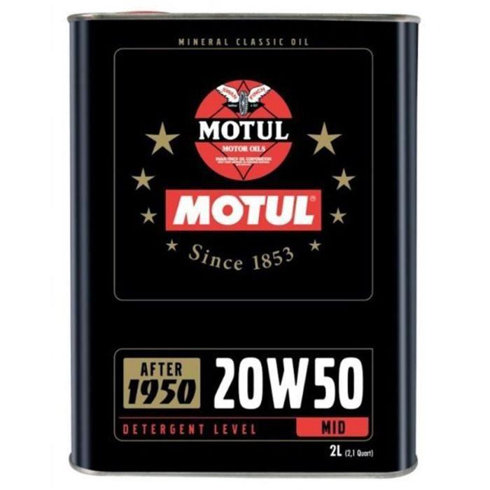 HUILE MOTEUR Motul Classic Oil 20W50 - Conditionnement - Bid...