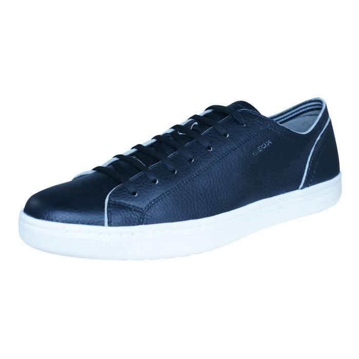 Geox U Ricky B Hommes Baskets en cuir - Chaussures Noir 9
