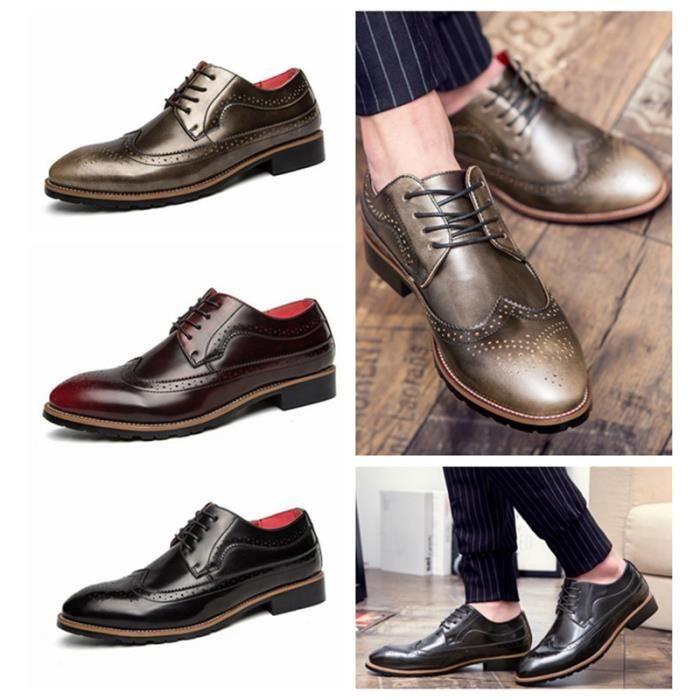 De À En Chaussures Oxfords Ville Lacets Homme Cuir D'affaires c4qj3RL5AS