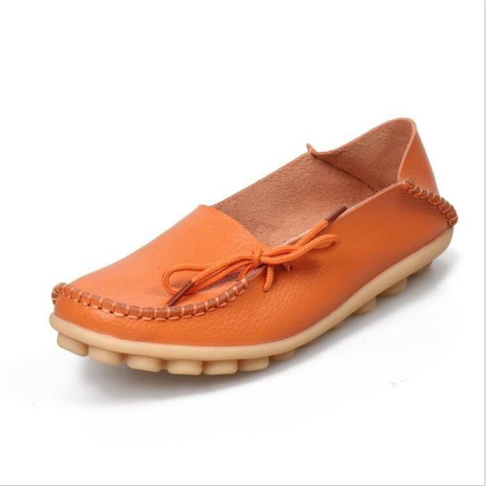 Loafer femme cuir 2017 ete Respirant Loafers femmes Nouvelle arrivee Durable marque de luxe Plus Grande Taille 34-44 vxEbvx
