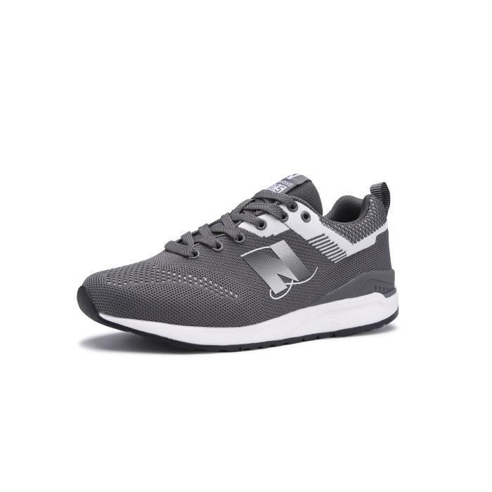 New Balance Chaussures de marche pour hommes Sport Lifestyle Fashion Poids léger Gris foncé 44