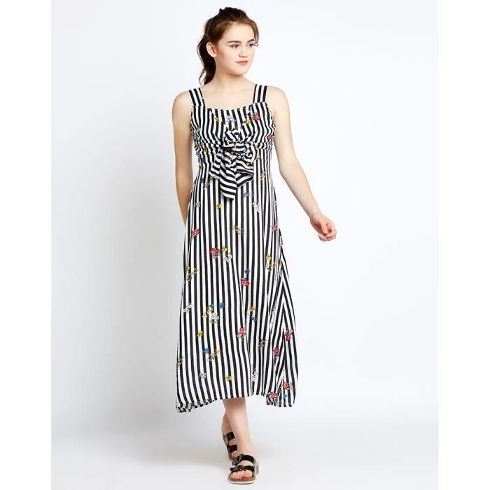 Trendtwo Stripes Elena noueuse Maxi féminin Robe rayée Nœuds Maxi Dress G5HHR