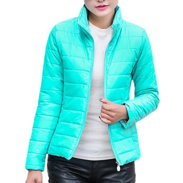 D'hiver Manteau Femmes Outwear Pied Bleu Manteaux De Veste Chaud Lac Mince Col Parka Ax8xOad