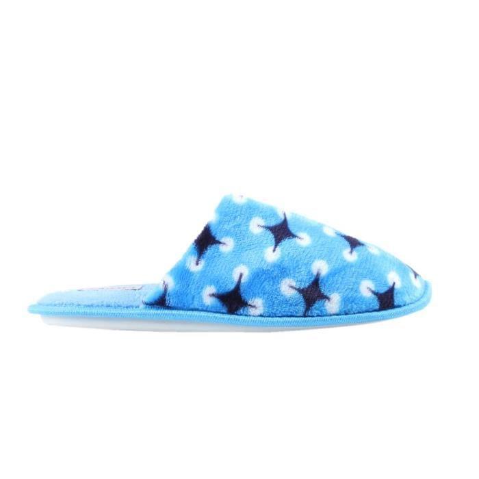 étoiles Chaussons à bleu motifs femme rzwqYEP4wx