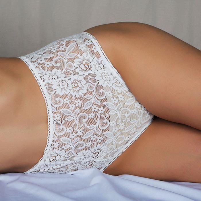 Culotte vêtements See Sous Lingerie Slip Pour through Floral Blanc Dentelle Femmes 11664 Corsaire fqg6B