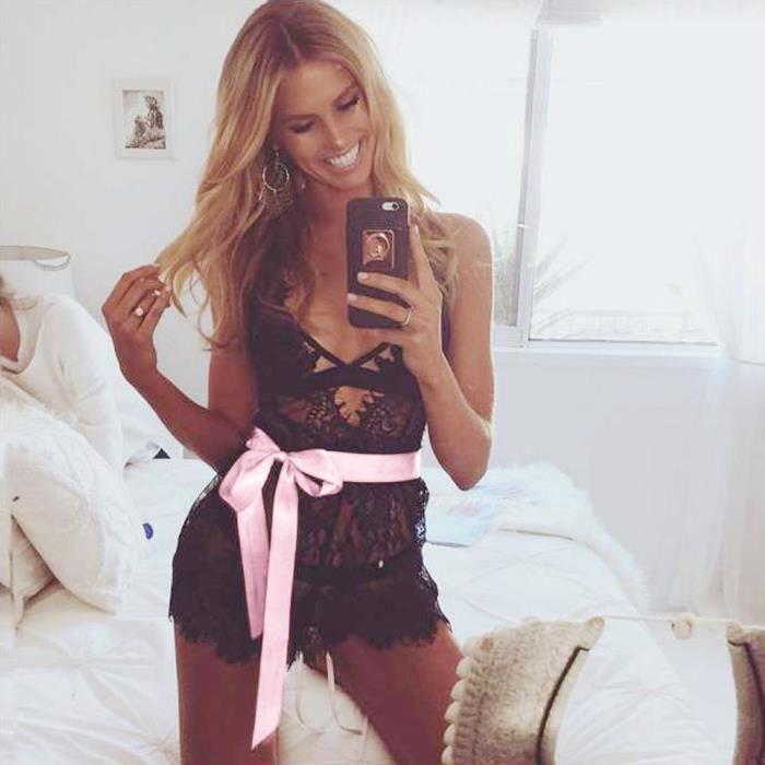 Dentelle string noir Slip vêtements Thongs Barboteuses Culotte G Femmes Sous Lingerie EZnqwdE