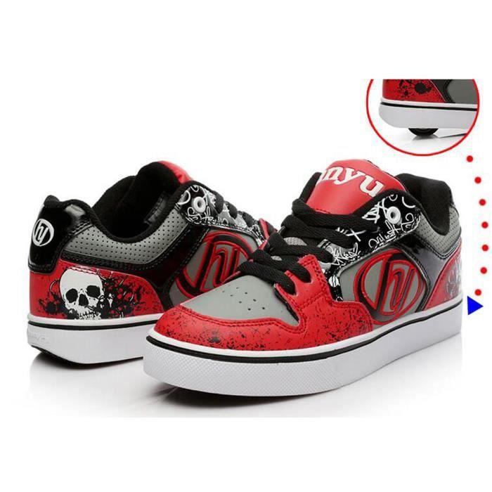 Enfants Chaussures heelys une roue Basket Heelys Garcons - Rouge nLHlAOhIHC