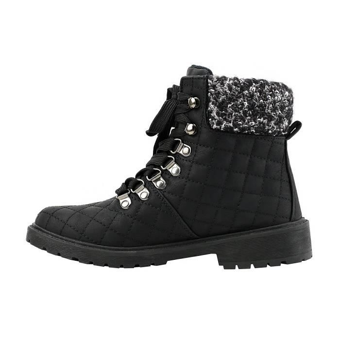 41 D5Z0J Womens Fashion Super Trimmed Fabric Comfy Up Taille Lace Boots ZABZvaH