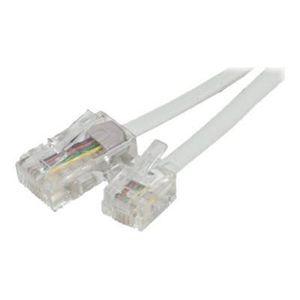 CÂBLE RÉSEAU  Cable RJ45 RJ11 téléphone 7m blanc