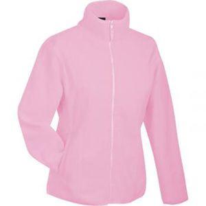 Veste polaire femme rose pale