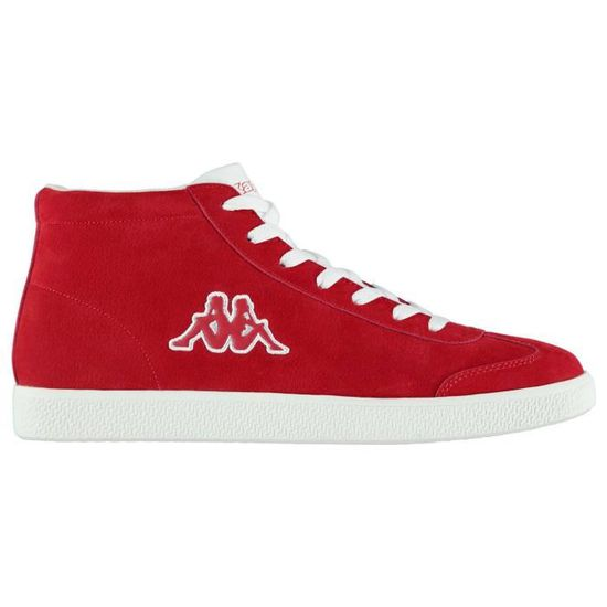 Kappa Sole Mid Homme Baskets Basses Rouge Rouge/blanc - Achat / Vente basket