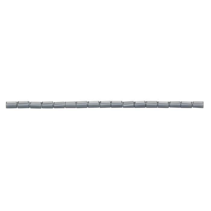 PANDURO Perles tubes cristal - Gris