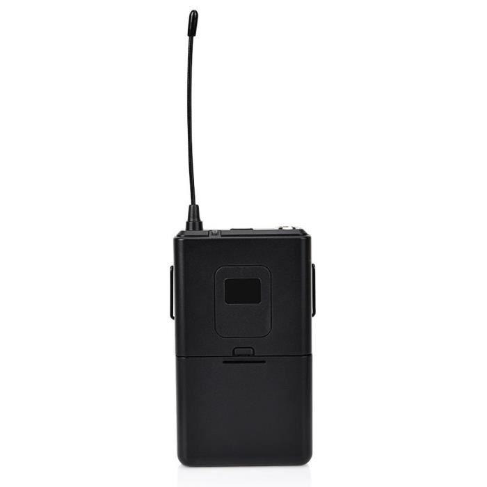 1 À 4 Uhf Portable Émetteur Récepteur Clip Lapel Headset Microphone (641.5-672.3 Mhz)
