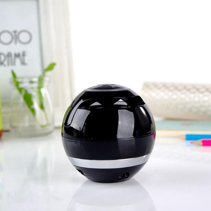 Haut-parleur Sans Fil Bluetooth Mobile Cadeau Subwoofer Stéréo Rond Mini Portable, Noir