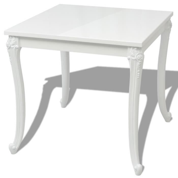 Table Salle A Manger Carre Blanche Achat Vente Pas Cher