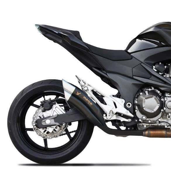 Silencieux Double Fl 251 Tes Homologu 233 Ixrace Z7 Black Kawasaki Z800 Achat Vente Silencieux Pour