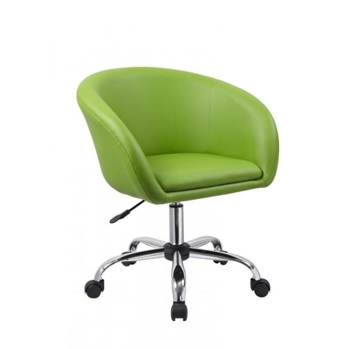Fauteuil à roulette tabouret chaise de bureau vert BUR09025 - Achat ... cddec9576b23