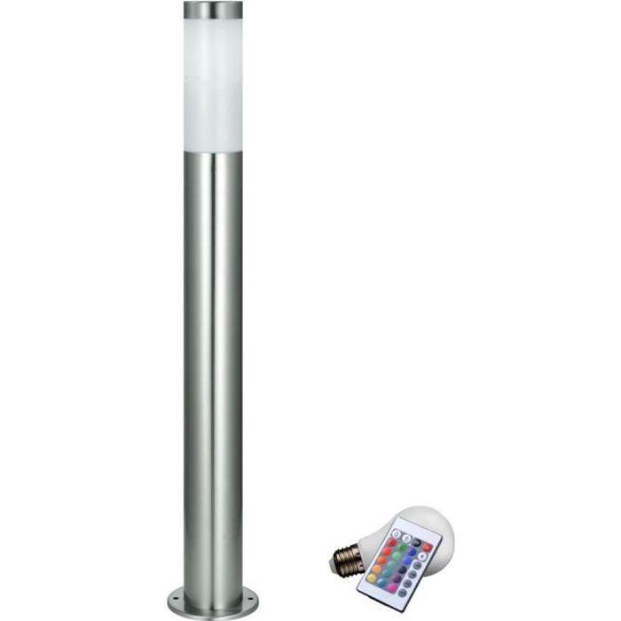 Lampadaire Exterieur Led Rvb Luminaire Sur Pied Lampe Del Jardin Terrasse Eclairage Telecommande