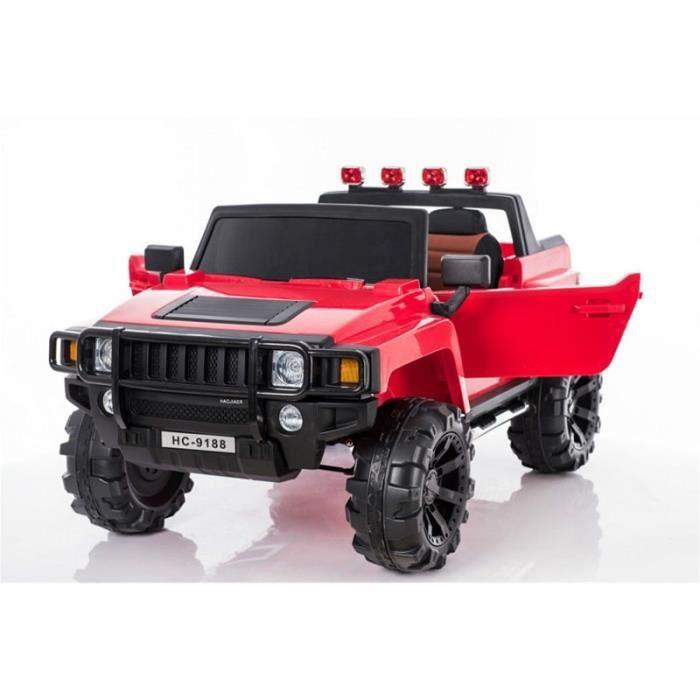 4x4 Hummer électrique 2 places 12V pour enfant Rouge - Achat   Vente ... 53b17d7148a6
