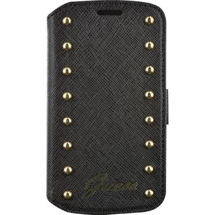 f8c695e265 GUESS Etui à rabat pour Samsung Galaxy Trend Lite - Clouté - Noir ...