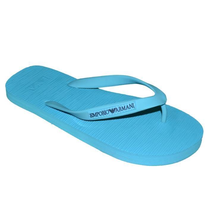 - Emporio Armani - Tongs Croisées - Homme - Beach Sandals 211516 4p488 - Bleu Gris B59xe