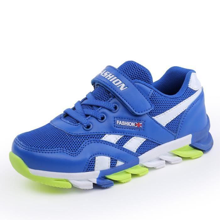 2017 automne nouvelles chaussures de sport pour enfants coréens autocollants magiques pour hommes dans les grands chaussures pour