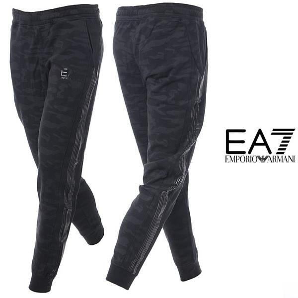 BAS DE JOGGING EA7 ARMANI - HOMME - NOIR CAMOUFLAGE Noir noir ... 06c4c2007b1