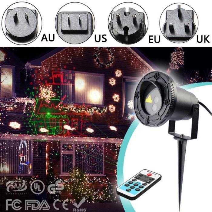 LAVENT Projecteur laser exterieur fête éclairage jardin 8 modes ...