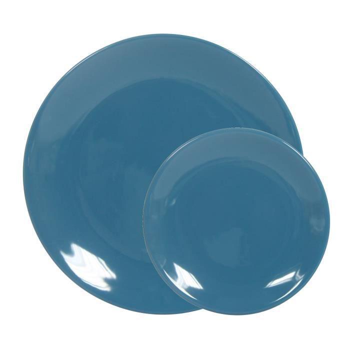 Assiettes achat vente assiettes pas cher cdiscount - Service de table bleu ...