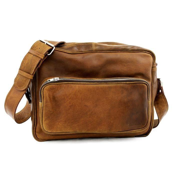 Marius Bolsa Vintage De Cuero Paul Negocios Bag Satchel UX6Uz