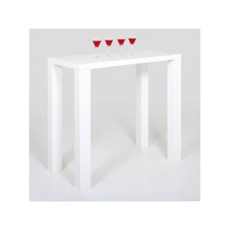 Table De Bar Betty Blanc Laqué Xl Achat Vente Mange Debout Table