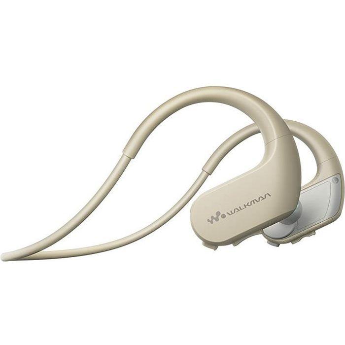 LECTEUR MP3 SONY NW-WS413 Lecteur MP3 - Casque sport 4 Go Crem