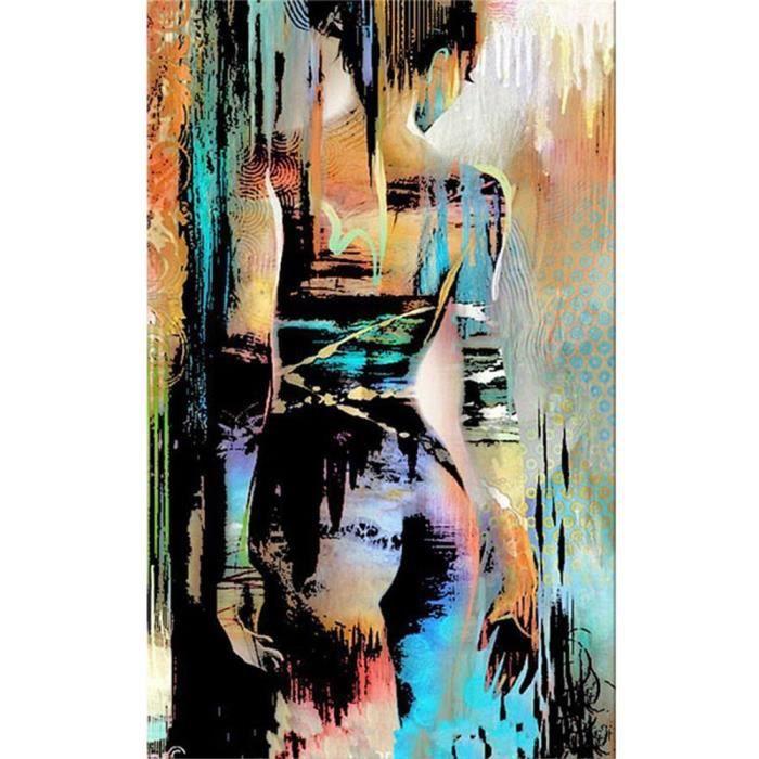 TABLEAU - TOILE Tableau Déco - 100% Peint à la main Toile Peinture e11f775cd86b