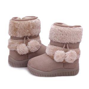 Hiver Bottes Enfants En Peluche Chaussures Filles Garçon Bottines BJ-XZ095Rose21 VpmUoUMsg4