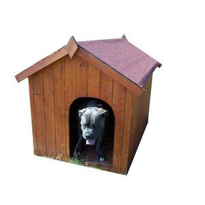 NICHE Niche à chien toit bitumé bipente 1,17m² - Pour pe