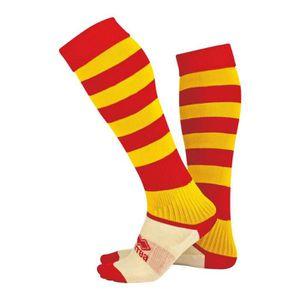 CHAUSSETTES FOOTBALL Chaussettes Montantes Errea Zone - rouge-jaune - J