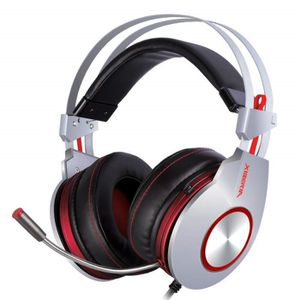 CASQUE AVEC MICROPHONE K5 Over-Ear USB Casque Gaming Headset Pro Comforta