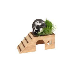 CAGE Abri pour rongeurs avec herbe naturelle