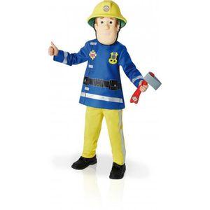 DÉGUISEMENT - PANOPLIE Déguisement luxe Sam le Pompier, masque feutrine -