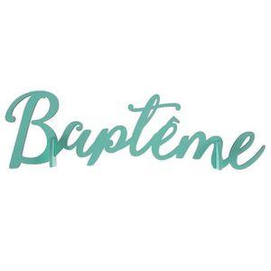 DÉCORATION DE TABLE Centre de table baptême Mint en bois (x1) REF/6433